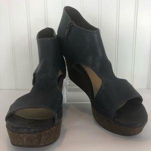 Coclico Mosaic Cork Wedge Platform Sandals 40